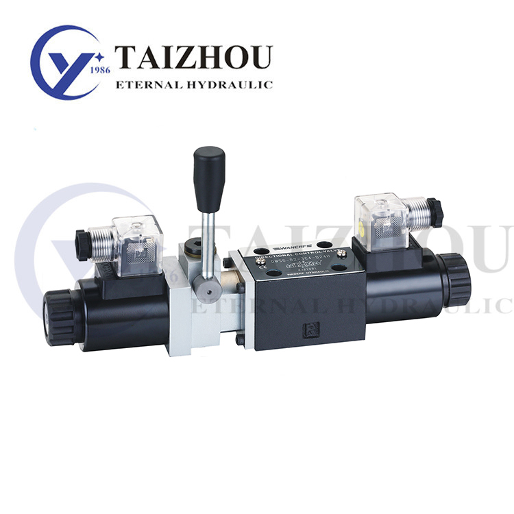 DMSG Flapper type manual operated check control solenoid valve